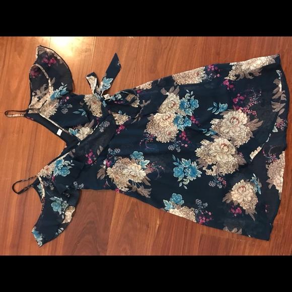 Xhilaration Dresses & Skirts - Navy off the shoulder dress
